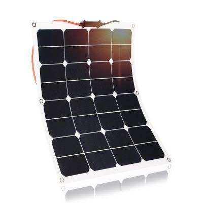 Kingsolar 50W Durable ETFE Semi Flexible Panel Solar Cargador de batería para automóvil