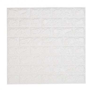 Leisu 3d Ladrillo Pegatina Pared Autoadhesivo Panel Pared Impermeable 3d Diy Wall Stickers Moderno Blanco Decorativo