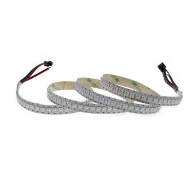 ALITOVE WS2812B Individually Addressable LED Flexible Strip Light 3.2ft 144 LED Pixel 5050 RGB SMD Not Waterproof White PCB 5V DC                                                                                                       Clase de eficiencia energética A+++